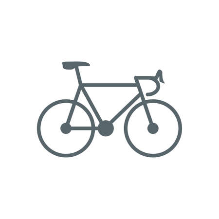 bike icon design, Vehicle bicycle cycle healthy lifestyle sport and leisure theme Vector illustration Ilustracja