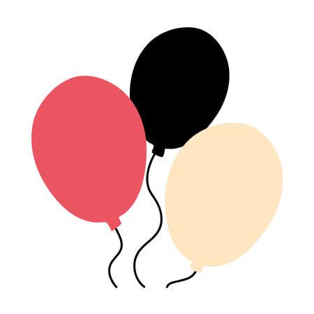 Balloons design, Party celebration entertainment holiday fun birthday decoration and joy theme Vector illustration Vettoriali