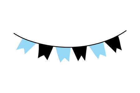 Banner pennant design, Party celebration and decorative theme Vector illustration Vettoriali