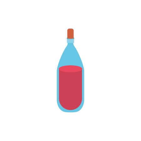 Wine bottle design, Winery alcohol drink beverage restaurant and celebration theme Vector illustration Illustration