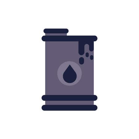 Oil barrel design, Gas energy fuel technology power industrial production gasoline and petroleum theme Vector illustration Ilustrace