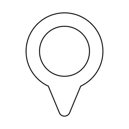 pointer of place optimization , line style icon vector illustration design Stock Illustratie