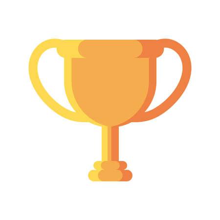champion trophy on white background vector illustration design Illusztráció