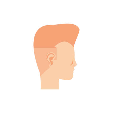 male head icon design, Human body person people health anatomy biology and science theme Vector illustration