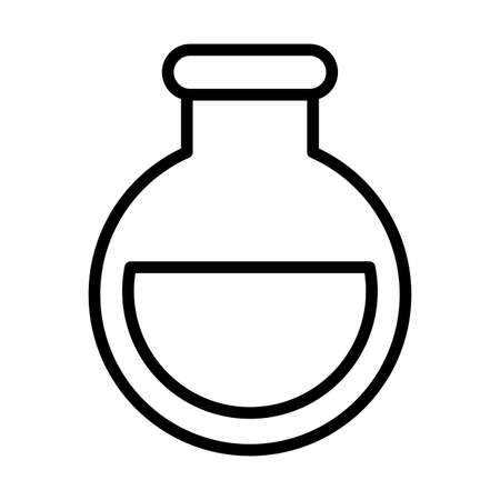 flask with oil , line style icon vector illustration design Ilustracja