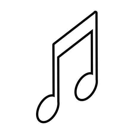 musical note on white background vector illustration design