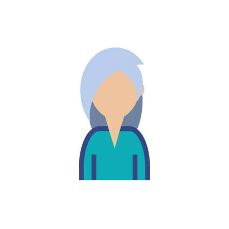 Woman avatar profile design of Person social communication human user partnership member and figure theme Vector illustration