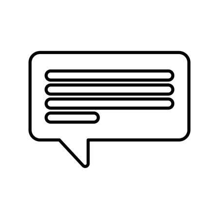 speech bubble on white background vector illustration design