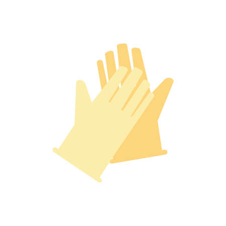 gloves symbol of protection on white background vector illustration design