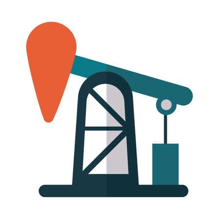 oil refinery in white background vector illustration design Stok Fotoğraf - 150562662