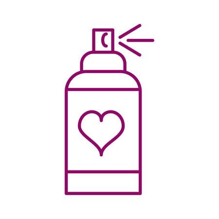 bottle spray, line style icon vector illustration design