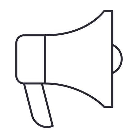 megaphone icon over white background, vector illustration Illusztráció