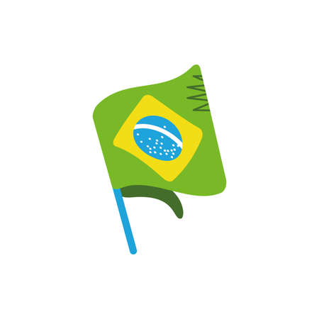 Brazil flag design, Culture tourism brazilian travel south latin america country and traditional theme Vector illustration