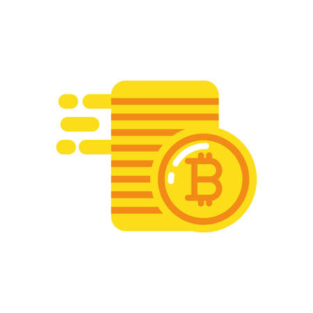 Bitcoins coins design of Cryptocurrency money currency exchange financial bank web internet market electronic finance and net theme Vector illustration