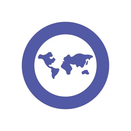 World sphere design, Planet continent earth globe ocen sea universe science and map theme Vector illustration Ilustracja