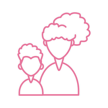 woman with son, line style icon vector illustration design