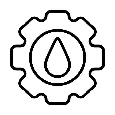 gear with oil , line style icon vector illustration design