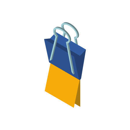 Paper clip design, Document data archive office metal tool information organize portfolio and storage theme Vector illustration