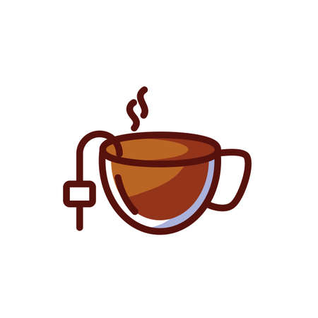 Coffee cup design of time drink breakfast beverage shop morning store aroma and caffeine theme Vector illustration