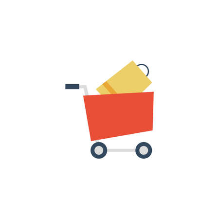 shopping cart on white background vector illustration design