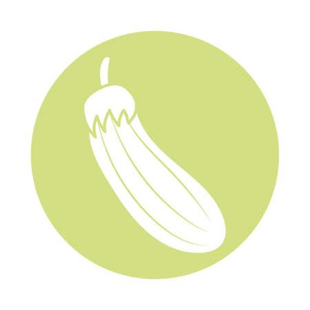 eggplant icon over white background, block style, vector illustration