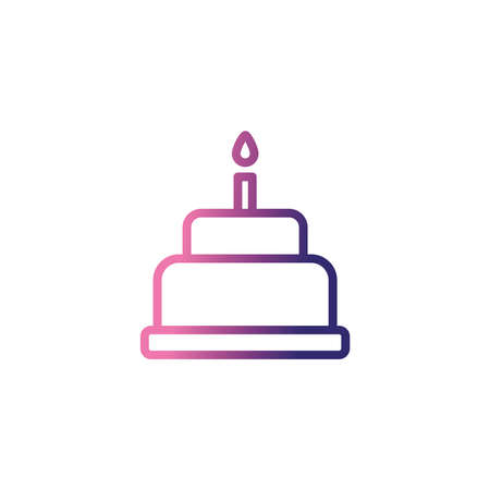 birthday cake, gradient style icon birthday cake,gradient style icon vector illustration design