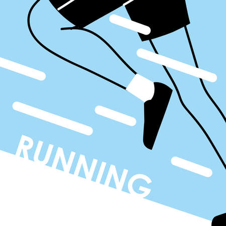 human legs running design, Marathon athlete training and fitness theme Vector illustration