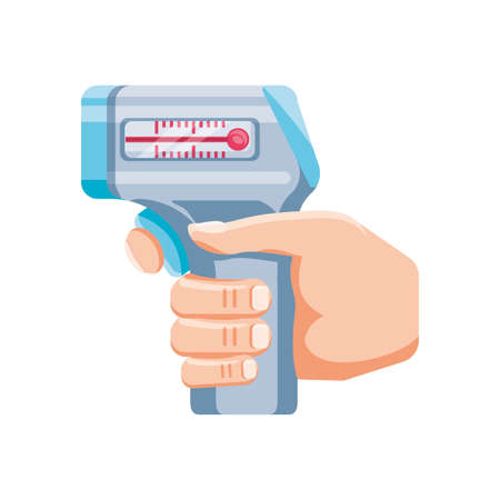 medical instrument thermometer on white background vector illustration design