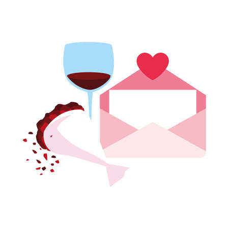 set of icons valentines day vector illustration design