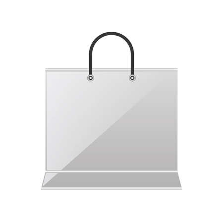 shopping bag on white background vector illustration design
