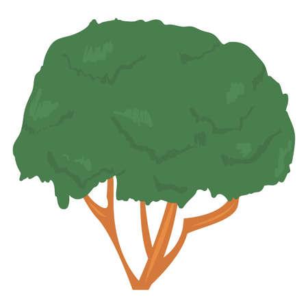 tree nature ecology on white background vector illustration