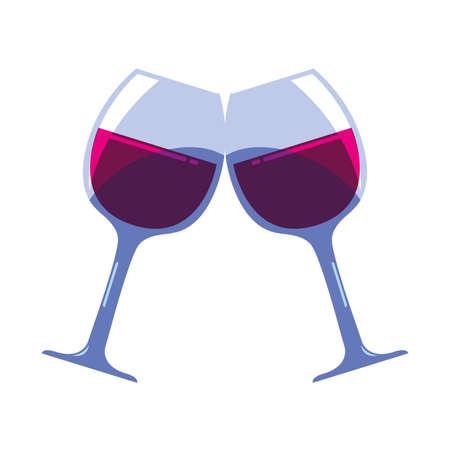 wine glasses on white background vector illustration design Ilustracja