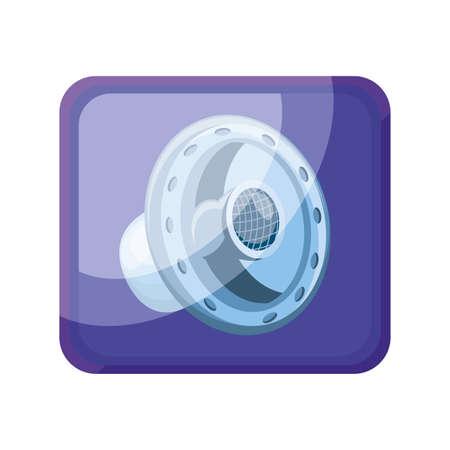 music app icon on white background vector illustration design Illusztráció