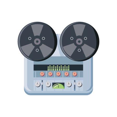 dj console on white background vector illustration design Vetores