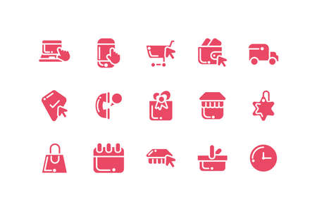 bundle of electronic commerce with icons set vector illustration design 向量圖像