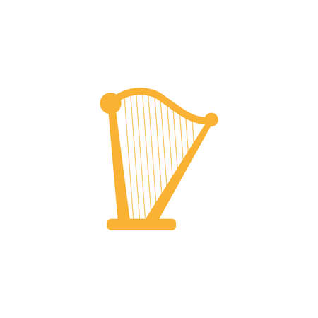 musical instrument arpa , flat style icon vector illustration design