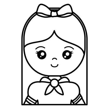 cute and little girl character vector illustration design 矢量图像