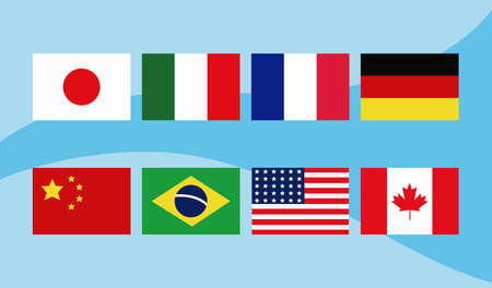 flags of different countries of the world vector illustration design