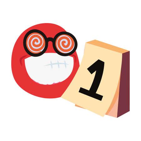 emoji face april fools day vector illustration
