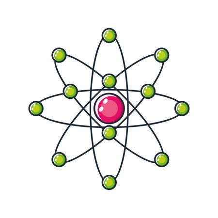 atom symbol on white background vector illustration design