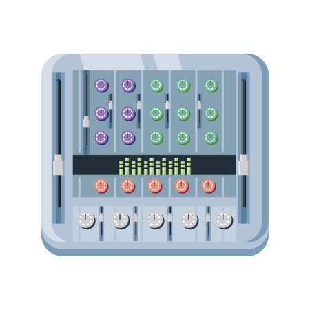 recording mixer on white background vector illustration design