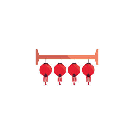 Chinese lamps design, China culture asia travel landmark famous asian and oriental theme Vector illustration