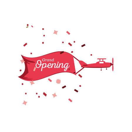 grand opening detailed style icon design of Store shop supermarket and market theme Vector illustration