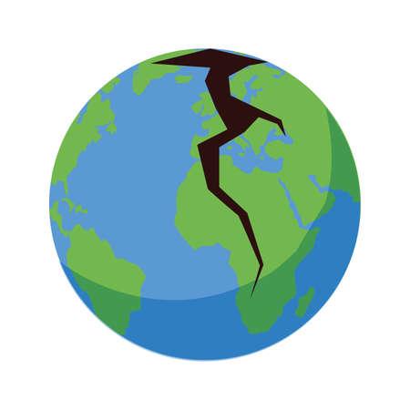 planet earth sick for pollution over white background vector illustration design Illustration