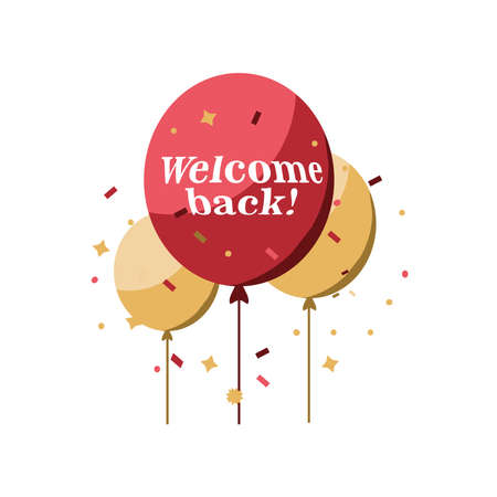 welcome back detailed style icon design of Store shop supermarket and market theme Vector illustration