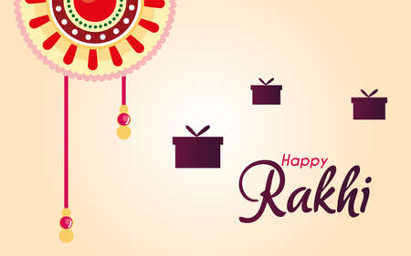 rakhi happy gifts festival Raksha vector illustration design