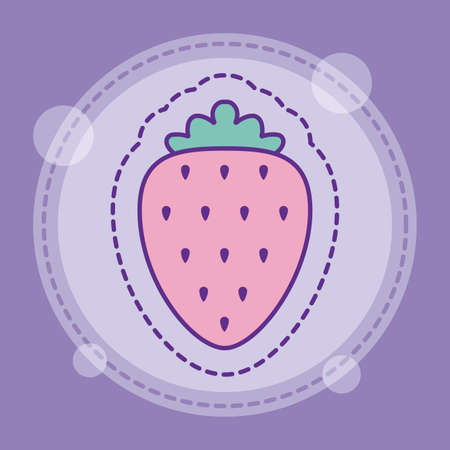 strawberry design, Fruit healthy organic food sweet and nature theme Vector illustration