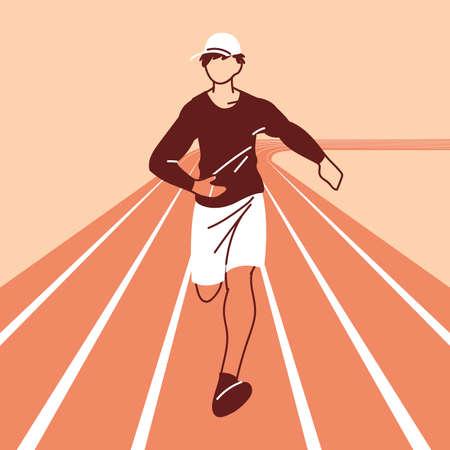 man avatar running design, Marathon athlete training and fitness theme Vector illustration