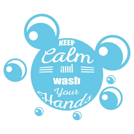 keep calm and wash your hands, banner vector illustration design