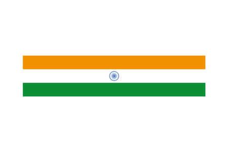 flag of india on white background vector illustration design